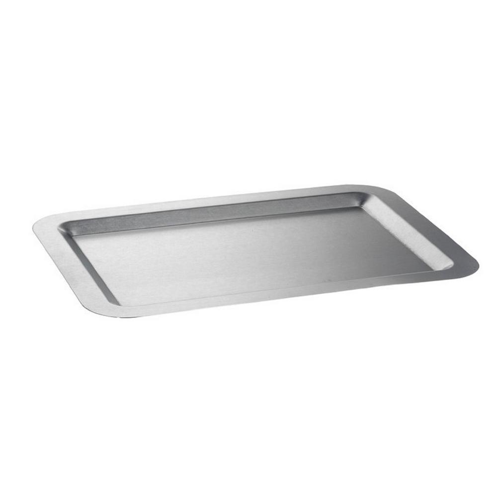 Kraftware 11 in. x 16 in. Stainless Steel Tray 71416