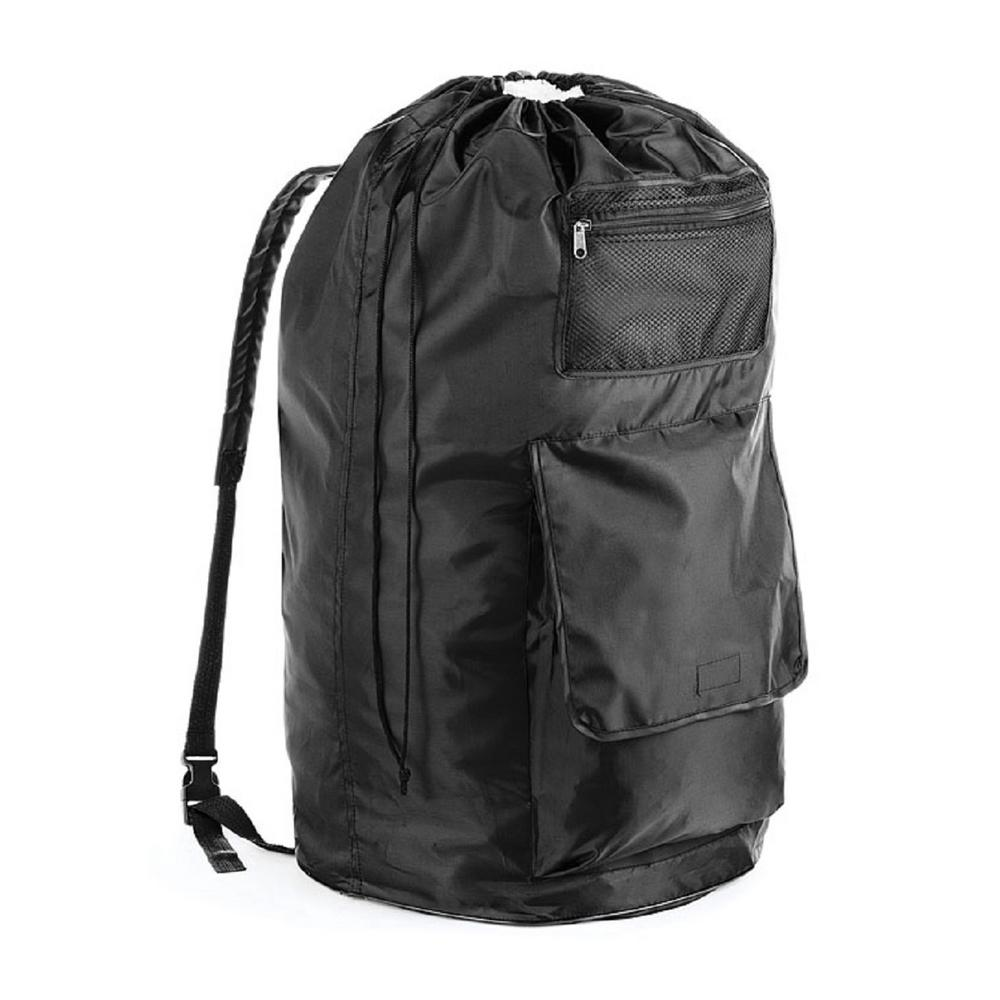 Whitmor Black Polyester Duraclean Laundry Backpack
