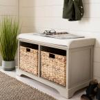 Freddy Vintage Grey Storage Bench