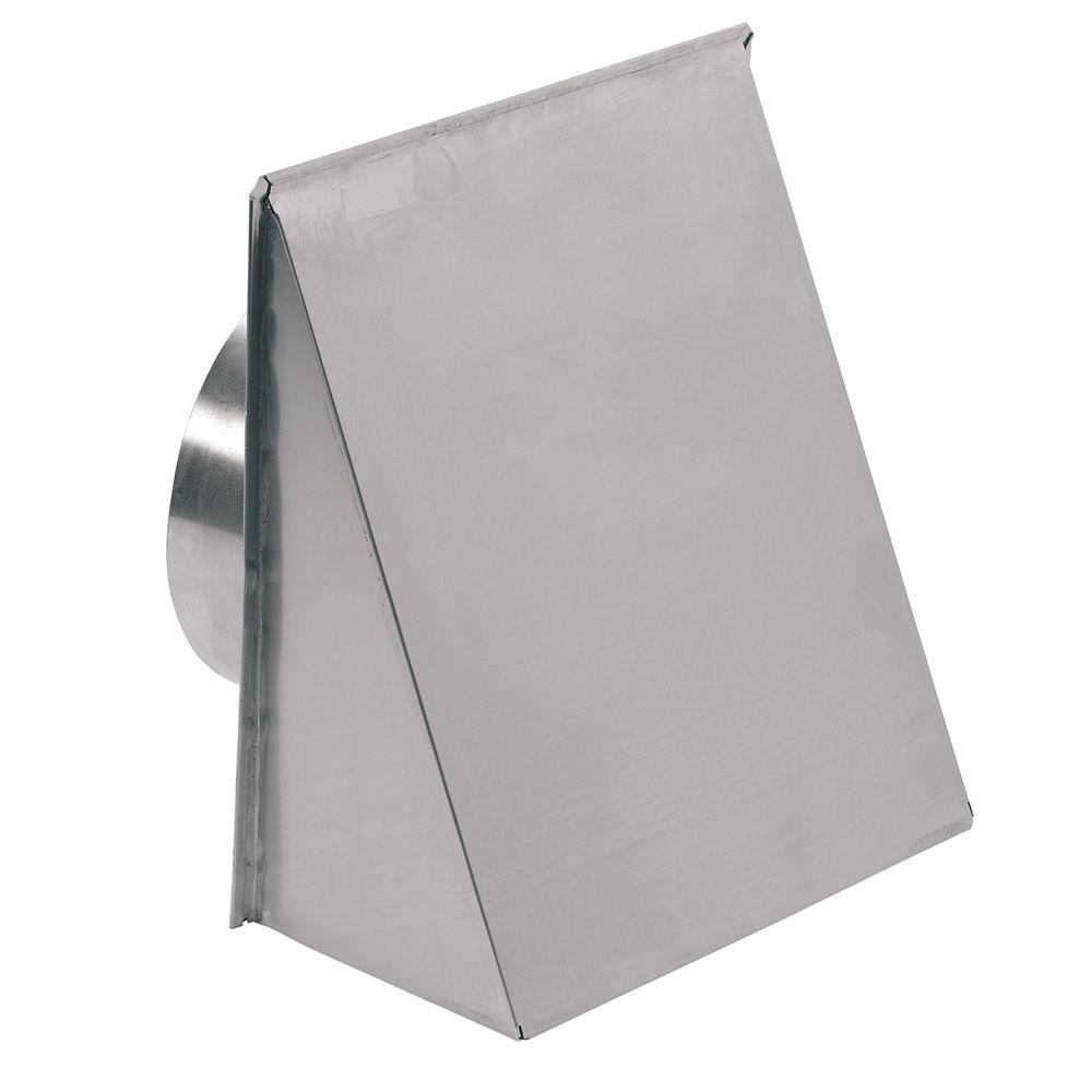 Broan Aluminum Wall Cap For 8 In Round Duct Natural Finish