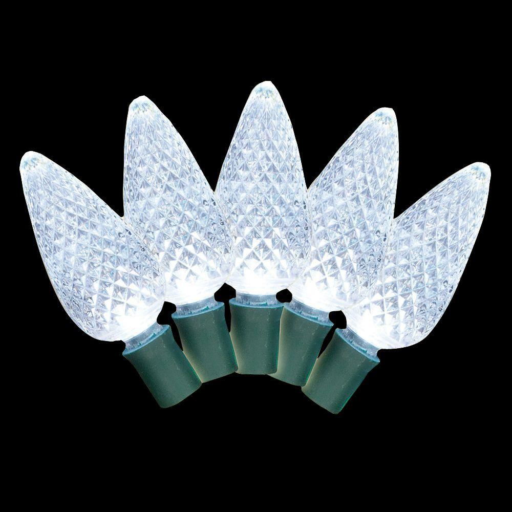 Brite Star C7 100-Light Faceted LED Pure White Light Set