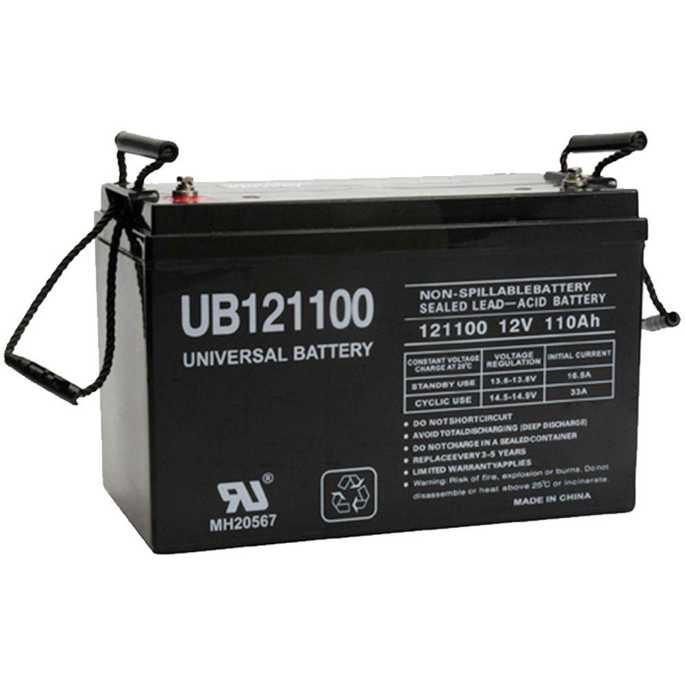 UPG 12-Volt 110 Ah I6 Terminal Sealed Lead Acid (SLA) AGM Rechargeable Battery