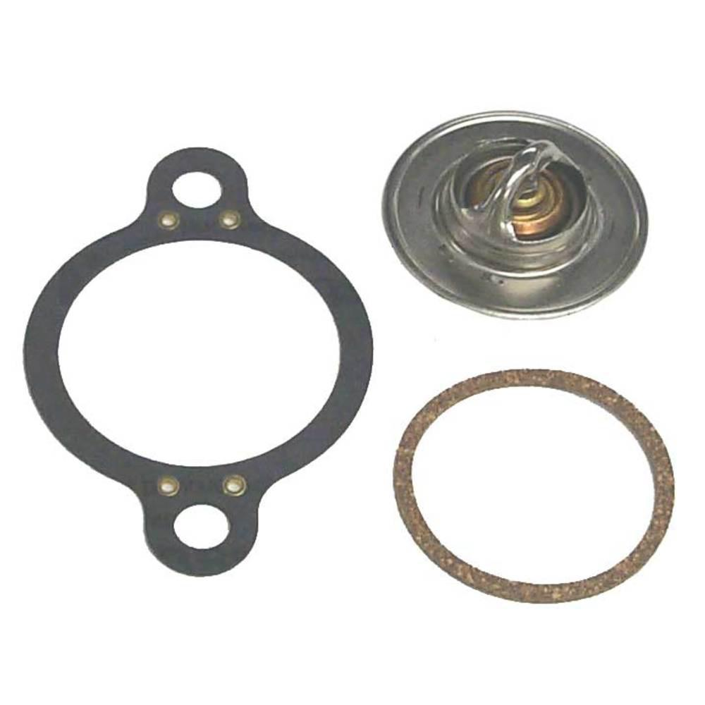 Sierra International Thermostat Kit - Mallory The Sierra 18-3648 Thermostat Kit is interchangeable with the following: Mallory 9-43100. Contains: 18-3649 Thermostat, 18-2553 Thermostat Cover Gasket, 18-2917 Thermostat Gasket. Each thermostat kit meets or exceeds the original equipment part it replaces. The thermostat has a temperature rating of 160F. Fit specific, check part numbers before purchase to ensure proper fit.