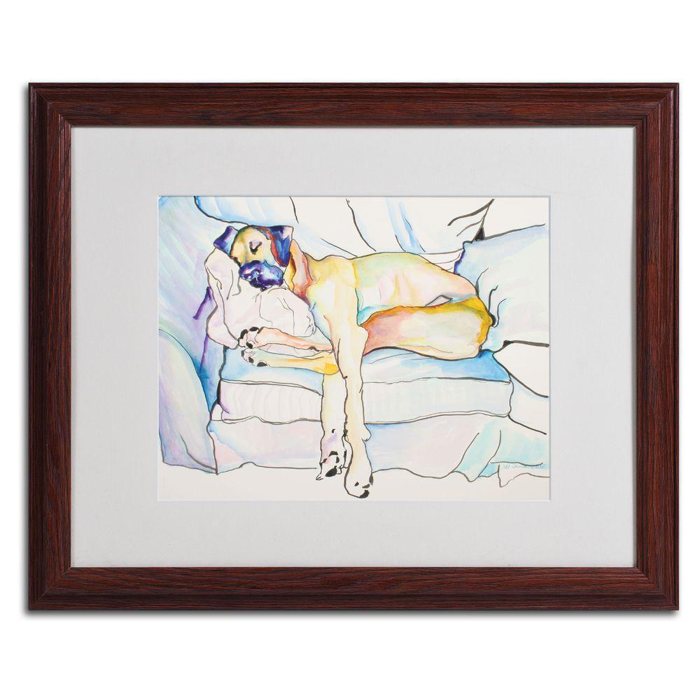 16 in. x 20 in. Sleeping Beauty Matted Framed Wall Art
