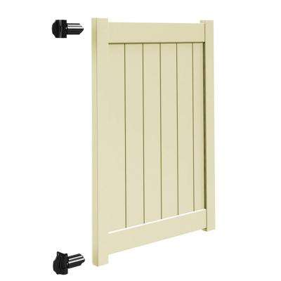 Bryce and Washington Series 4 ft. W x 5 ft. H Sand Vinyl Un-Assembled Fence Gate