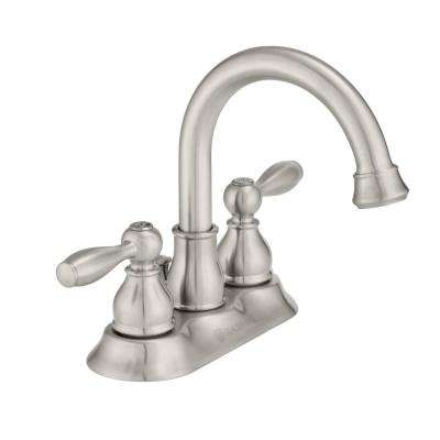 Mandouri 4 in. Centerset 2-Handle High-Arc Bathroom Faucet in Brushed Nickel