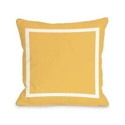 Samantha Simple Square Mimosa Yellow 16 in. x 16 in. Decorative Pillow