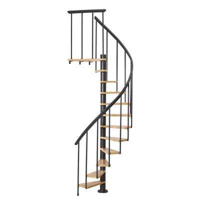 Calgary Black 55 in. Dia Standard Stair Kit 110 in. High