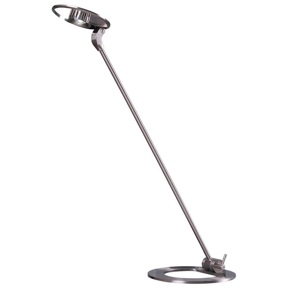 Kenroy Home Odo 23 in. Nickel Adjustable LED Desk Lamp