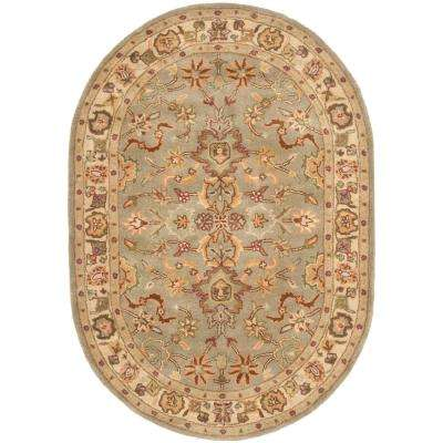 Heritage Light Green/Beige 7 ft. 6 in. x 9 ft. 6 in. Oval Area Rug