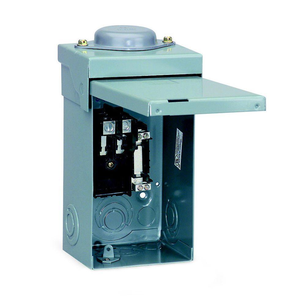 Square D Qo 40 Amp 2 Space 2 Circuit Outdoor Main Lug Load