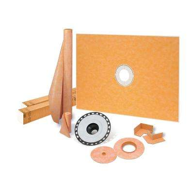 Kerdi-Shower-Kit 38 in. x 60 in. Shower Kit with ABS Flange