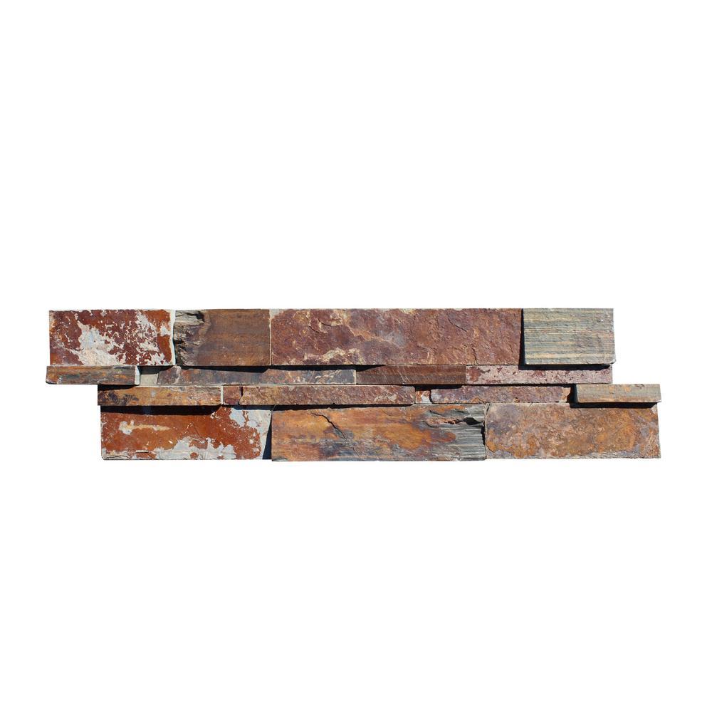California Gold Ledger Panel 6 in. x 24 in. Natural Slate