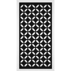 Capital 2 ft. x 4 ft. Black Vinyl Decorative Screen Panel (Pack of 2)