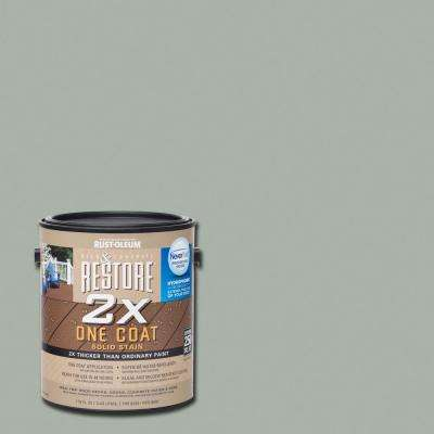 1 gal. 2X Gainsboro Solid Deck Stain with NeverWet