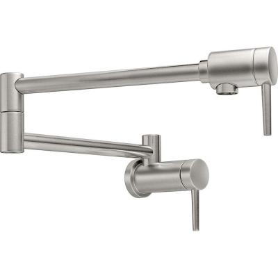 Contemporary Wall Mounted Potfiller in Stainless