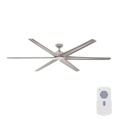 Fenceham 84 in. Indoor Brushed Nickel Ceiling Fan with Remote Control