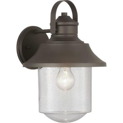 Weldon Collection 1-Light Bronze Outdoor Wall Lantern Sconce