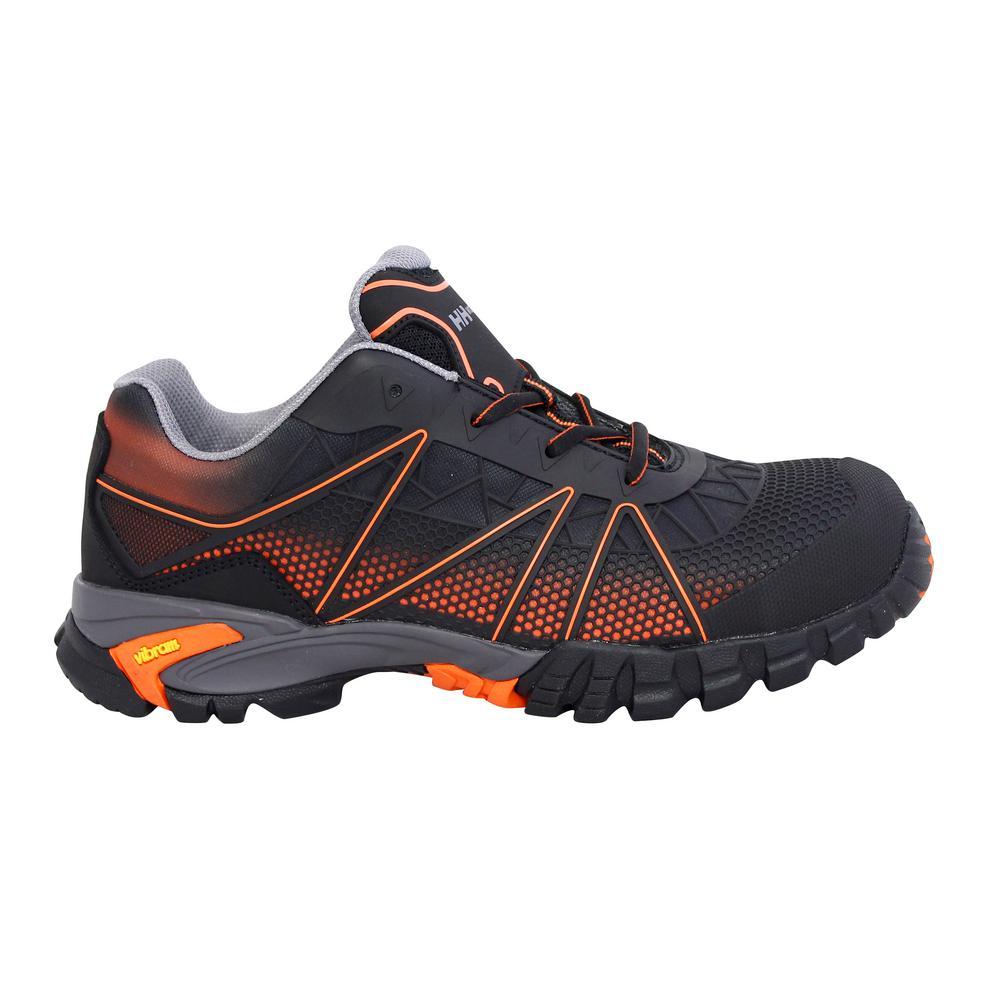 Terreng Low Men's Size 12 Black/Orange Nylon Mesh Composite Toe Puncture Resistant Work Shoe