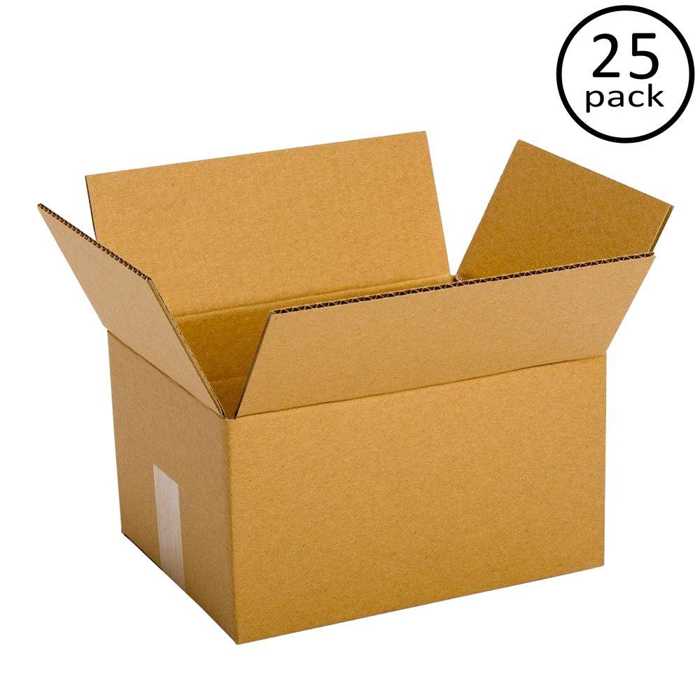 12 in. x 10 in. x 4 in. 25-Box Bundle