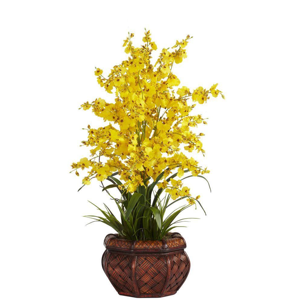 30 in. H Yellow Dancing Lady Silk Flower Arrangement