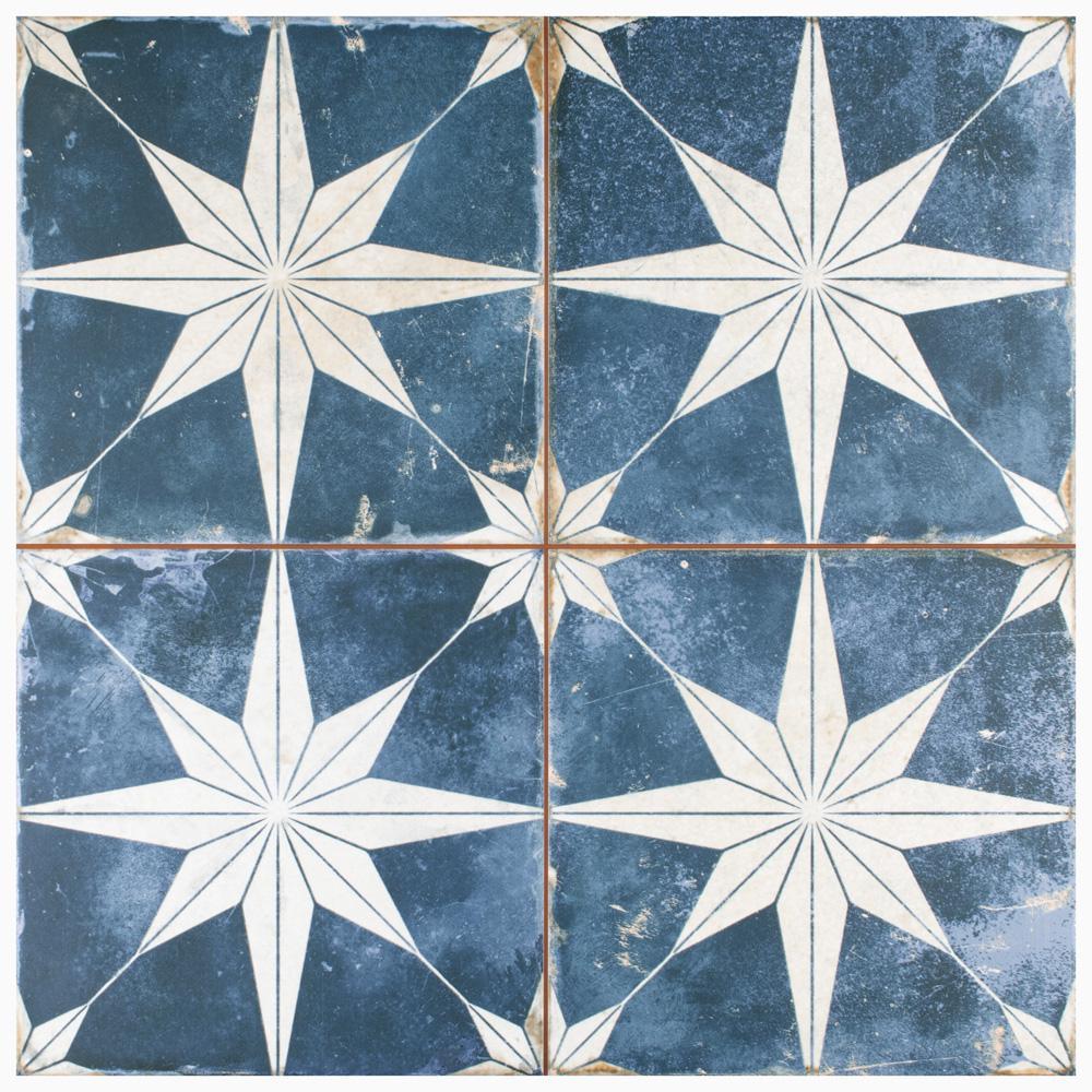 Kings Star Sky 17-5/8 in. x 17-5/8 in. Ceramic Floor and Wall Tile