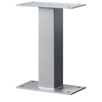 4000 Series Standard Bolt Mounted Pedestal for Mail Package Drop in Silver