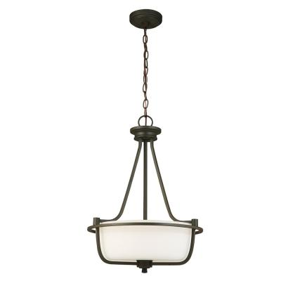Mayview 3-Light Matte Bronze Pendant