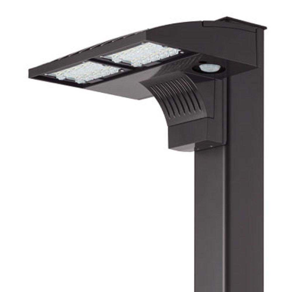 Lithonia Lighting Wall Mount Outdoor Metallic Fluorescent Area Light: Lithonia Lighting D-Series Outdoor Dark Bronze LED Pole