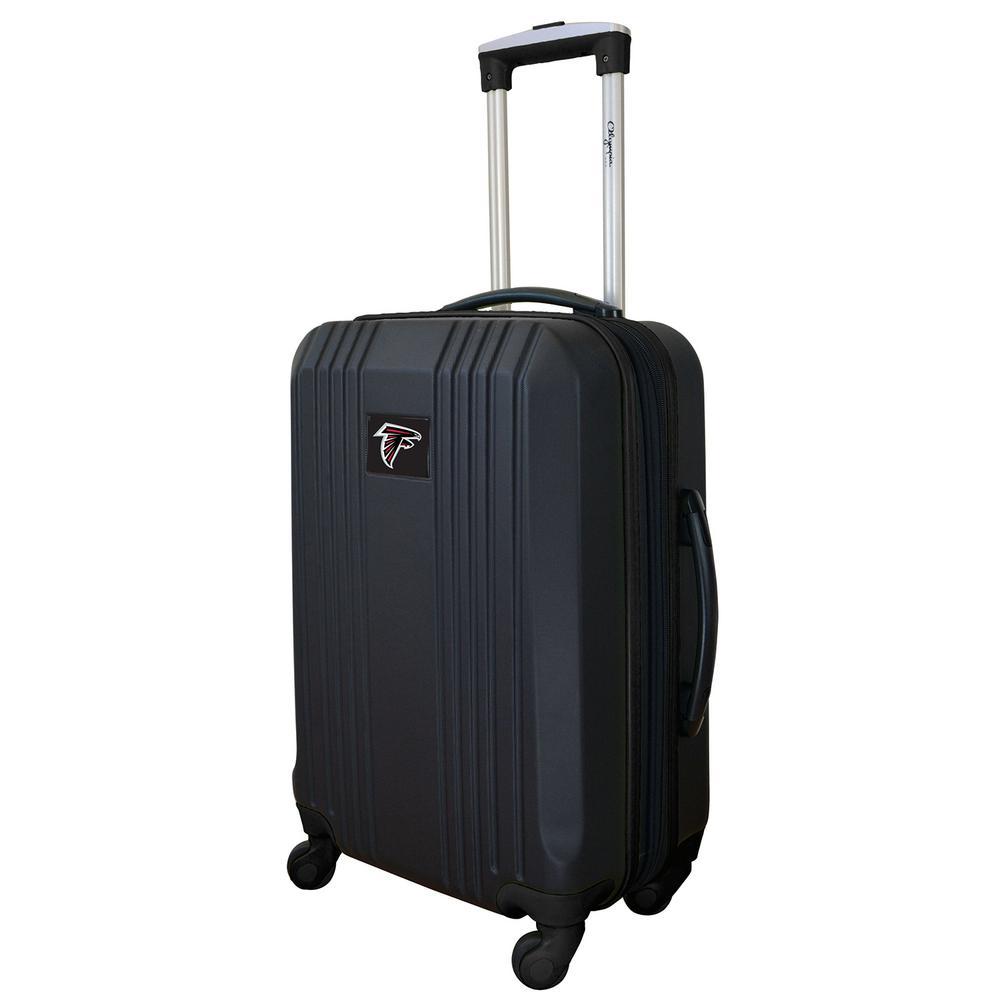 NFL Atlanta Falcons Black 21 in. Hardcase 2-Tone Luggage ...