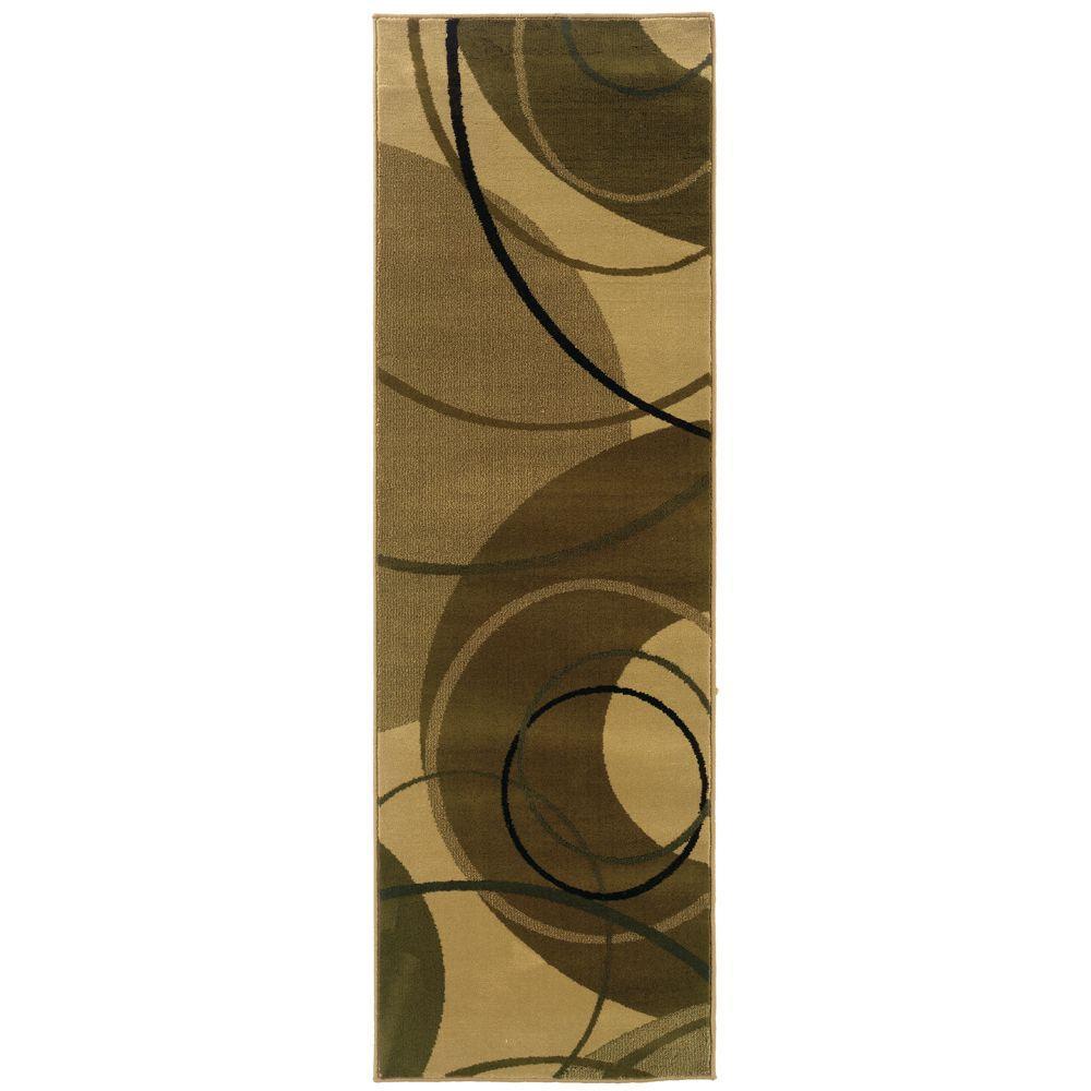 null Artisan Gyro Ivory 2 ft. 6 in. x 7 ft. 9 in. Runner
