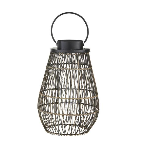 24.4 in. Large Outdoor Patio Bamboo Lantern