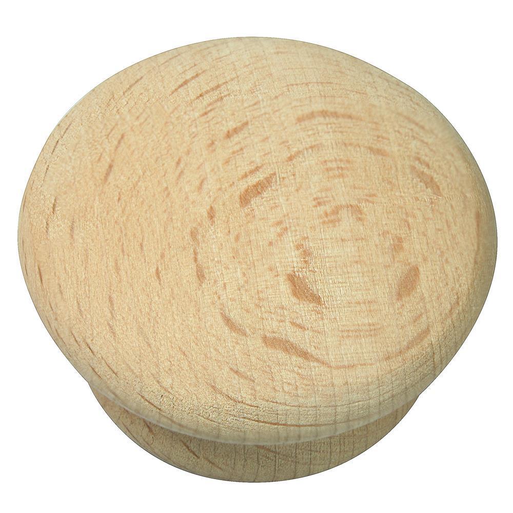 Au Natural 1-3/4 in. Wood Mushroom Cabinet Knob