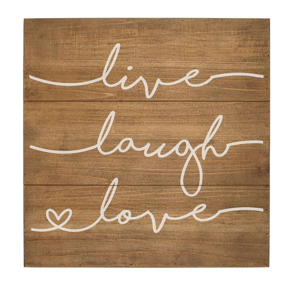 attractive Live Laugh Love Wall Art Part - 10: Cathyu0027s Concepts Live Laugh Love Rustic Wooden Wall Art