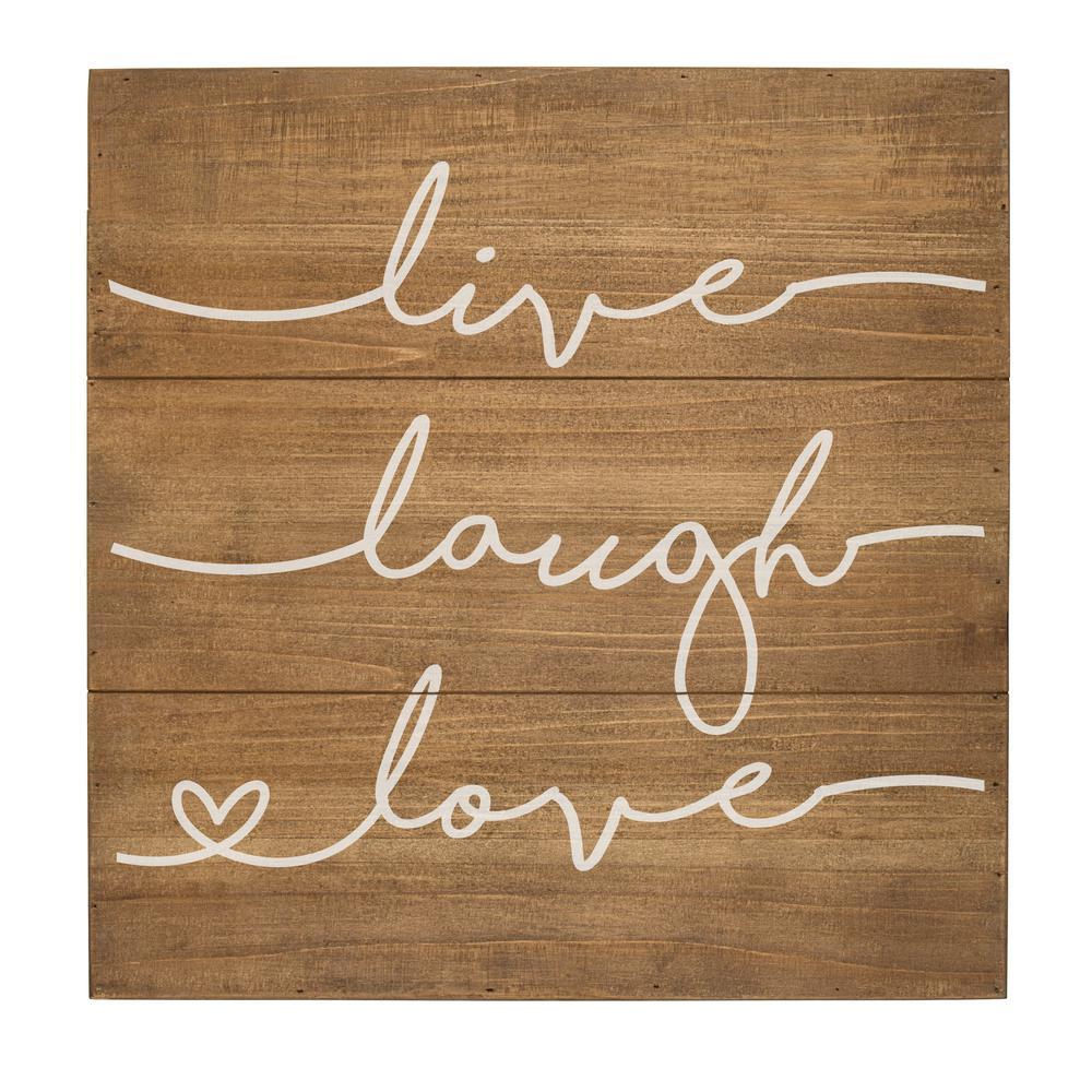 Live Laugh Love Rustic Wooden Wall Art