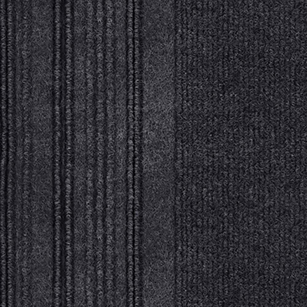 First Impressions Barcode Rib Black Ice Texture 24 in. x 24