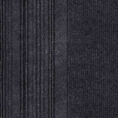 First Impressions Barcode Rib Black Ice Texture 24 in. x 24 in. Carpet Tile (15 Tiles/60 sq. ft./case)