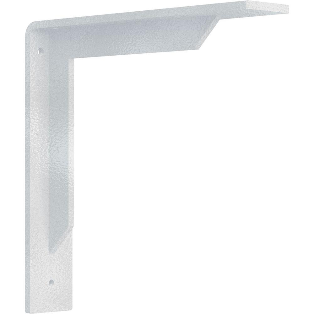 2 in. x 10 in. x 10 in. Steel Hammered White