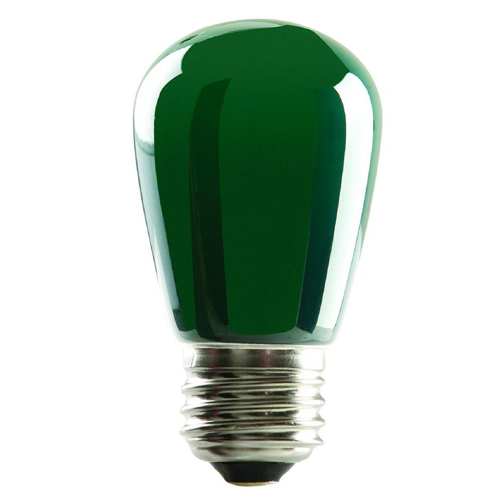 Pack80519 Watt Equivalent 1 Lighting Led Light Bulb S14 Green 11 Ip65 25 4 Halco Wet Location Technologies Dimmable Sign 0XN8nPkwO