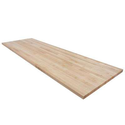8 ft. L x 2 ft. 6 in. D x 1.5 in. T Butcher Block Countertop in Finished Maple