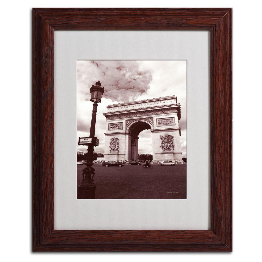 Trademark Fine Art 11 in. x 14 in. Arc De Tmphe Matted Framed Art