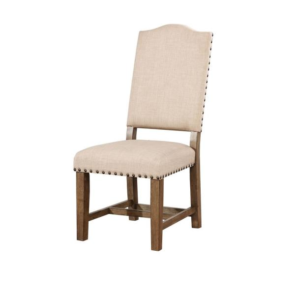 William's Home Furnishing Julia Light Oak Transitional Style Side Chair
