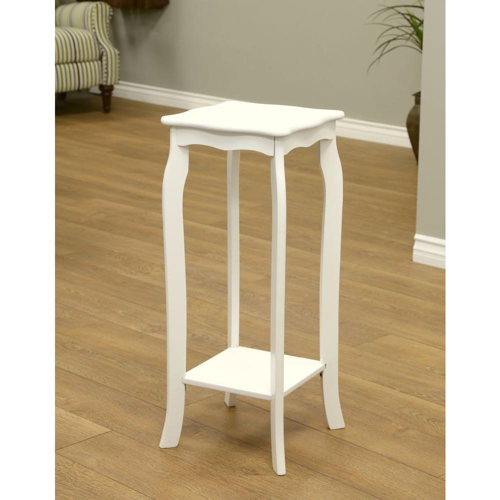 Plant Stand Indoor Wood White Household Phone Table Decorative Display Stands