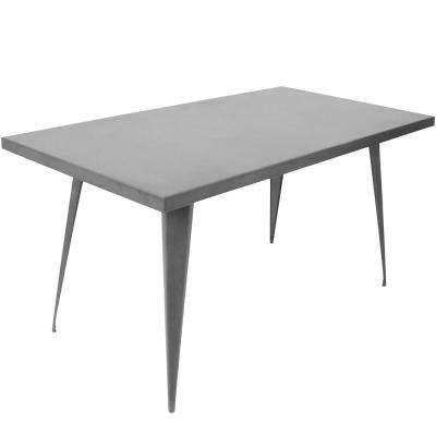 Austin 60 in. Matte Grey Dining Table