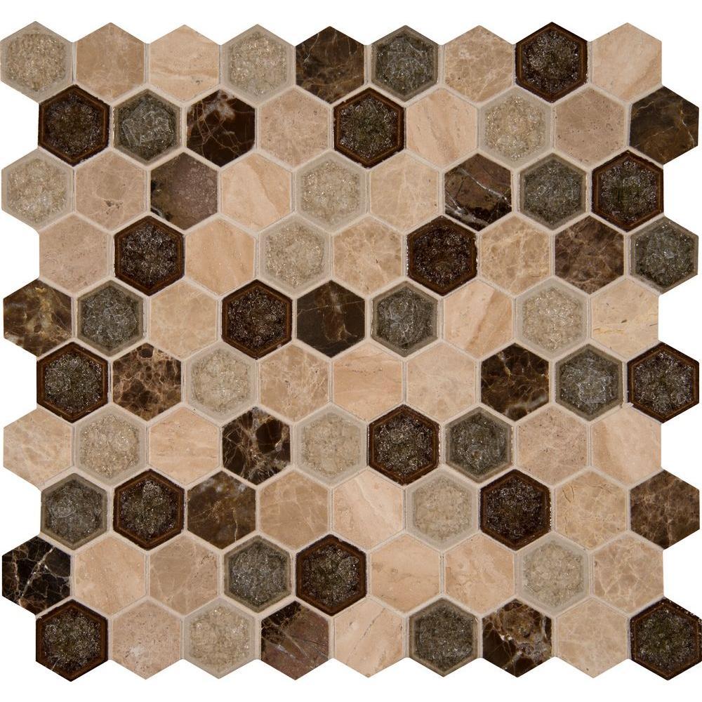 Ms International Kensington Hexagon 12 In X 12 In X 8 Mm