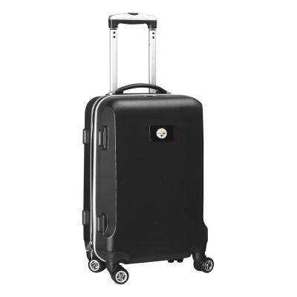 Denco NFL Pittsburgh Steelers Black 21 in. Carry-On Hardcase Spinner Suitcase