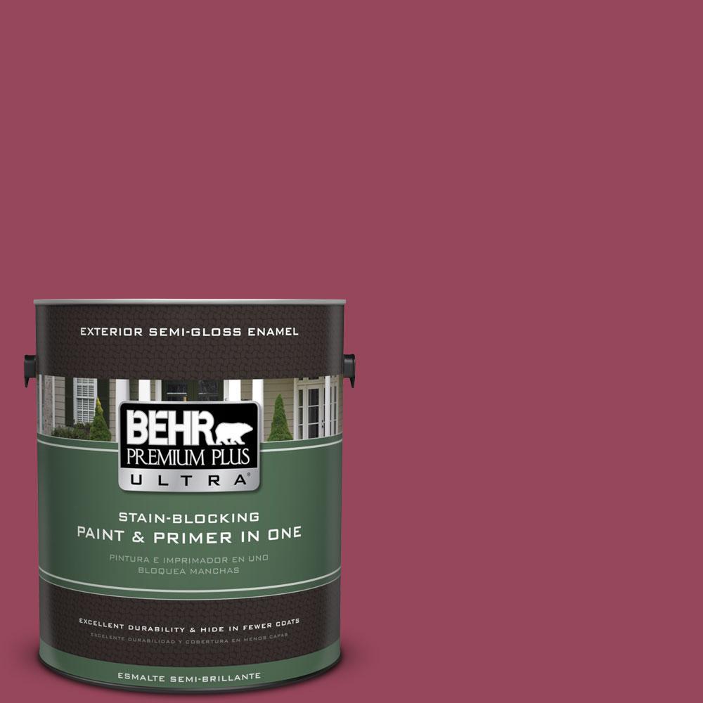 BEHR Premium Plus Ultra 1-gal. #PPU1-16 Haitian Flower Semi-Gloss Enamel Exterior Paint