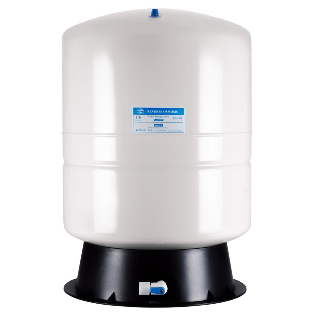 ISPRING 11 Gal. Metal Reverse Osmosis Water Storage Tank - Tank Valve and Adapter Included