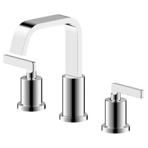 Saint-Lazare 2-Handle 8 in widespread Bathroom Faucet with Ribbon Spout in Chrome