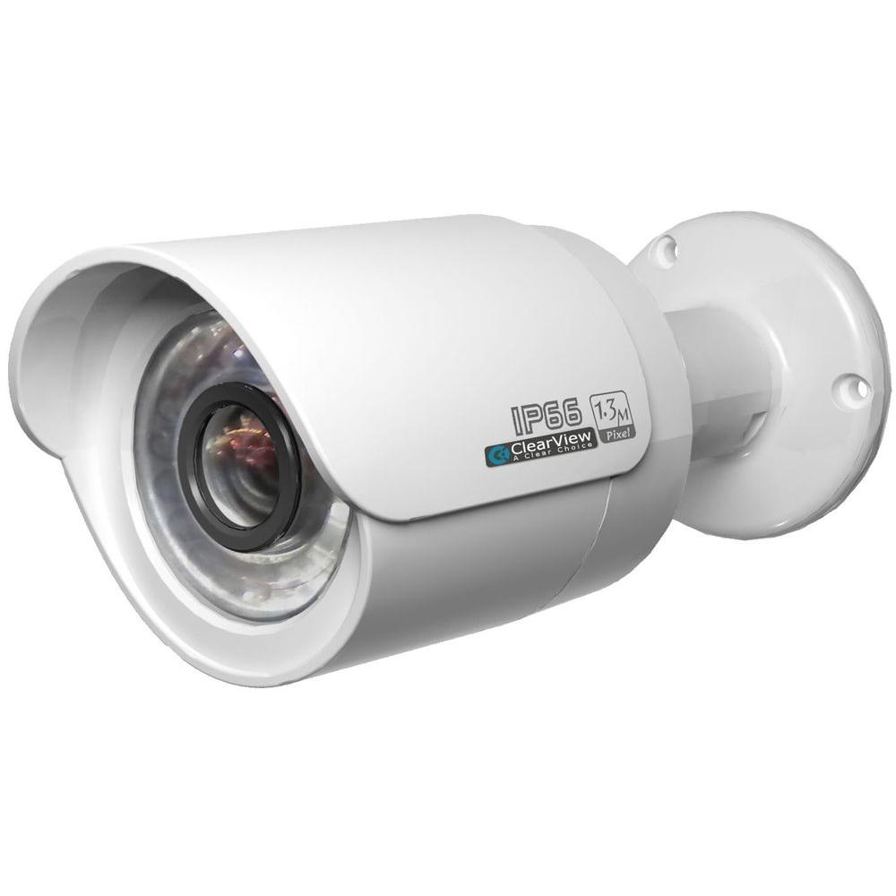 Wired 1080p Indoor/Outdoor Weatherproof IP Bullet Surveillance Camera with 65